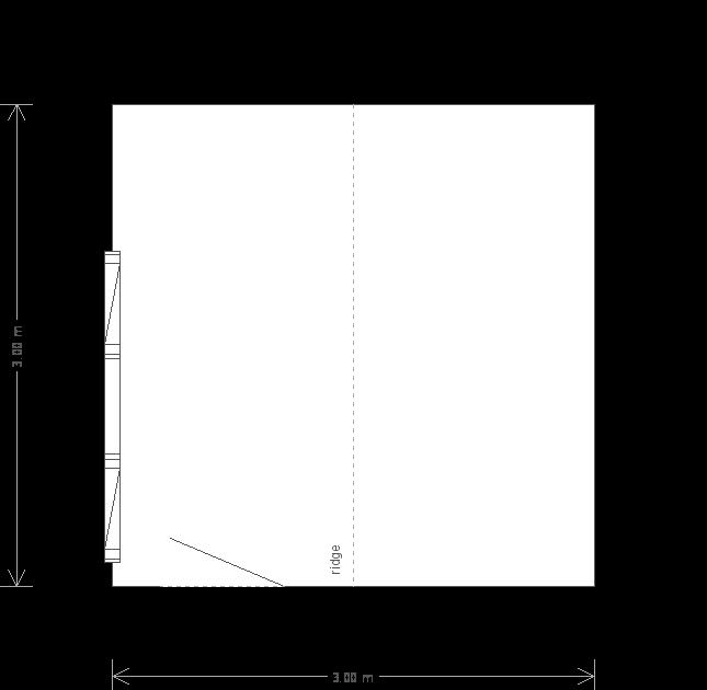 10 x 10 Langham Studio with Apex Roof: Front