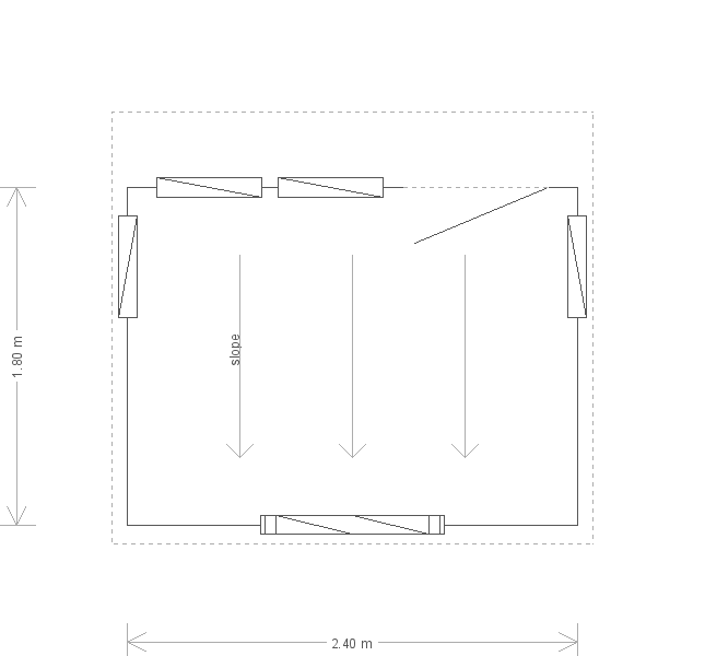 6 x 8 Salthouse Studio with Pent Roof: Front
