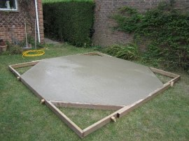 Laid concrete base