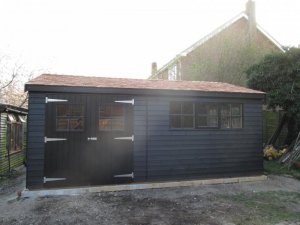 Superior Shed with Underfloor Insulation: Front
