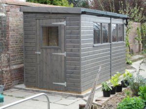 Superior Shed with guttering: Front
