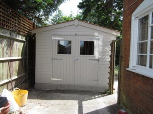 Superior Shed with Colour Matched Valtti Paint: Front