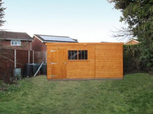 Superior Shed with Security Window Bars in Doncaster: Front