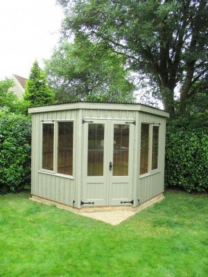National Trust Orford Summerhouse with Corrugated Roofing Material: Front
