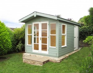 Blakeney Summerhouse with Storage Partition: Front