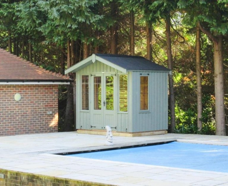 National Trust Ickworth Summerhouse with Roof Overhang