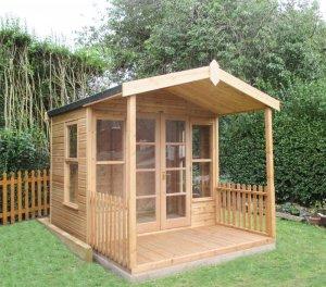 Morston Summerhouse with 1.2m Veranda: Front
