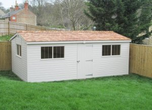 Superior Shed with Internal Access Partition: Front