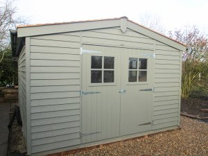 Matching Superior Sheds in Valtti Ash: Front
