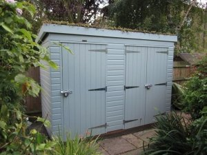 Superior Shed with Sedum Roof