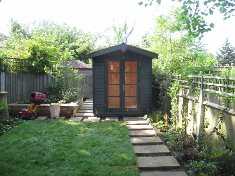 Blakeney Summerhouse with Shed Storage Section painted